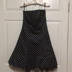 Jessica McLintock Black Strapless Dress